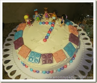 Lego Friends Party Cake
