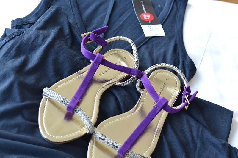 Dorothy Perkins, Dorothy Perkins Long Dress, Dorothy Perkins Flats Sandals, Long Dress, Maxi Dress, Sandals