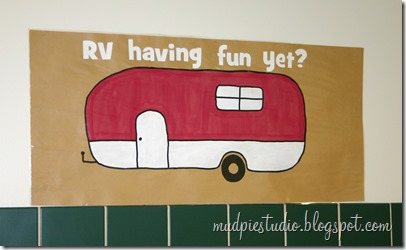 Camping theme bulletin board - RV