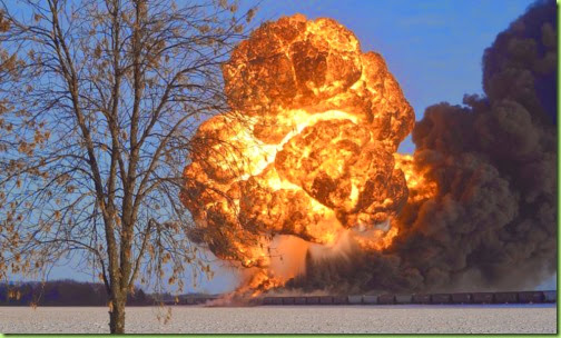 rail car explosion ND