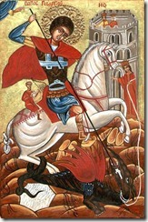 398px-Orthodox_Bulgarian_icon_of_St__George_fighting_the_dragon