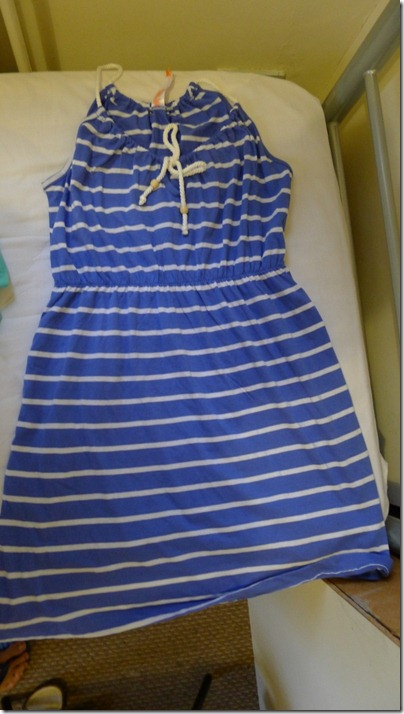 nautical blue-white stripe mini dress