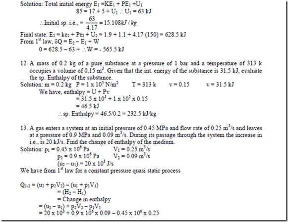 Basic Thermodynamics Course Problems On Thermodynamics Part1