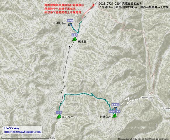 D7航跡圖