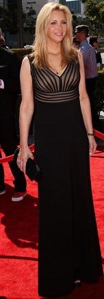 Lisa Kudrow Wore Black Full Length Gown