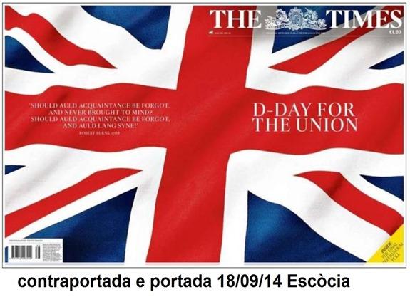 Portada Escòcia referèndum 2014 The Times