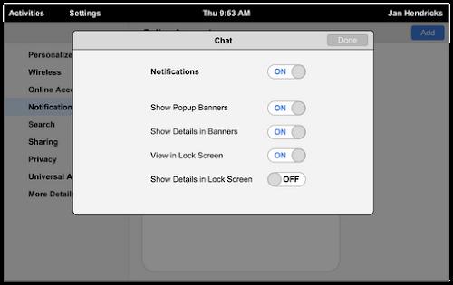 Gnome 3.8 - personalizzazione notifiche per ogni applicazione