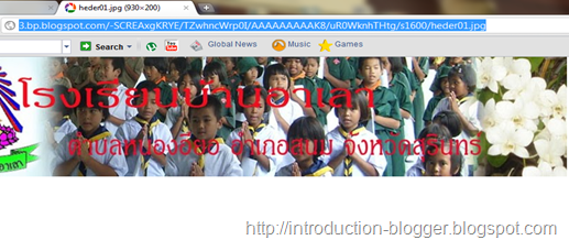 url in blogger