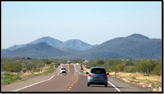 Highway 60 heading toward Congress, AZ