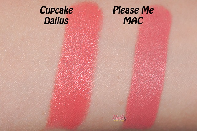 swatch please me by mac lipstick