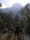 Hikers set off from Cisarua to climb Bongkok (Daniel Quinn, June 2011)