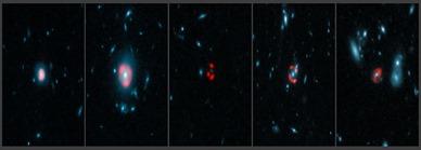 galáxias distantes amplificadas por lente gravitacional
