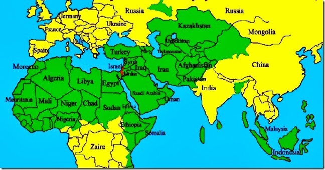 Tiny Israel Speck and Sea of Muslim Nations 2