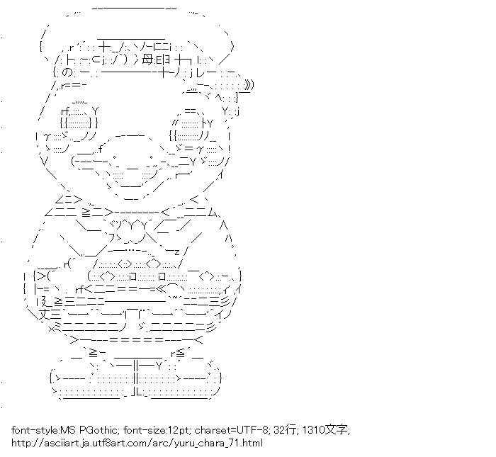 [AA]スカレーちゃん (ゆるキャラ)