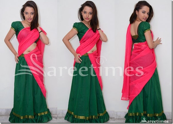 Pink_Green_Half_Saree