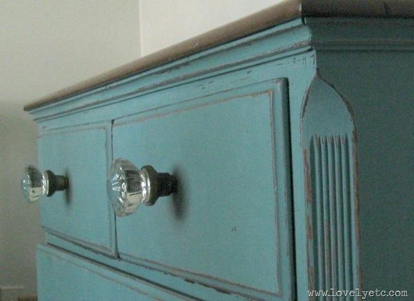 glass door knob dresser