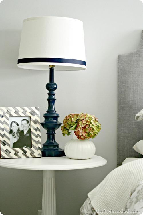 navy blue lamp
