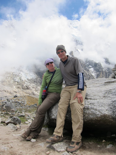 Resting at the top of the Salkantay Pass - 4,600m (15,100ft) above sea level.