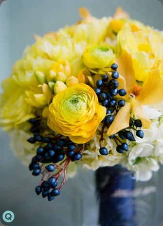 blue-yello-bridesmaid-bouquet-tm petal pushers austin q weddings