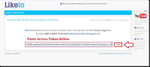 submit access token