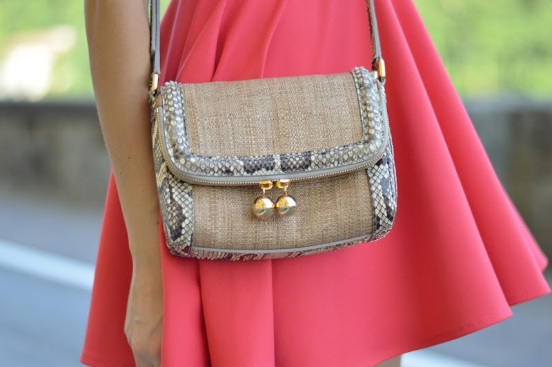 Dolce & Gabbana, Dolce & Gabbana bag, Dolce & Gabbana rafia e pitone, Dolce & Gabbana crossy body bag, summer bag, borsa a tracolla, borsa dolce & gabbana,