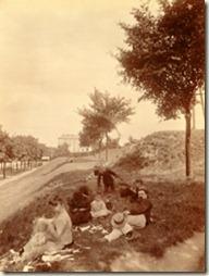 Zone des fortifications, porte d'Arcueil, boulevard Jourdan, 14e arrondissement, juin 1899