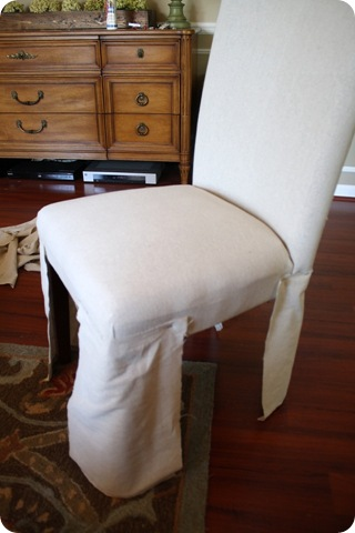 DIY chair skirt