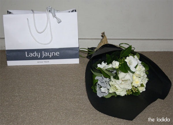 Lady Jayne Blogger Event Sydney 2013 - Gift Bag and Flowers