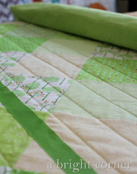green quilting