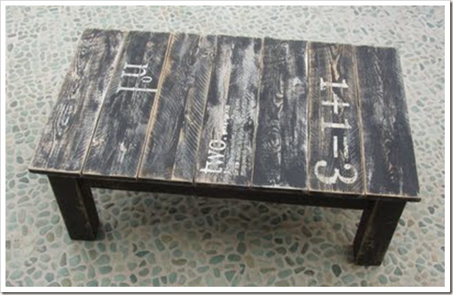 Caught in Grace: DIY Chunky Distressed Coffee Table