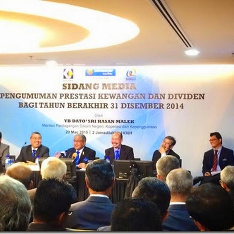 Dividen Bank Rakyat Tahun 2014 Sebanyak 15%