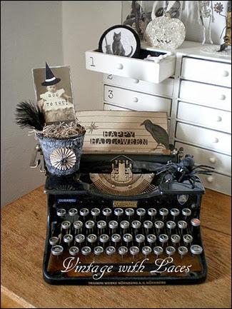 Halloween Typewriter Vignette