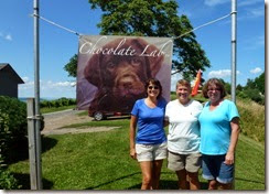 Tricia, Syl and Dot at Chocolate Lab Winery