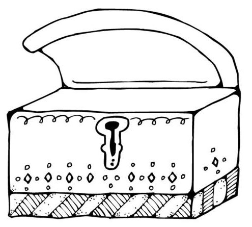 treasure chest outline clipart clipartfest - Open Treasure Chest Coloring Page
