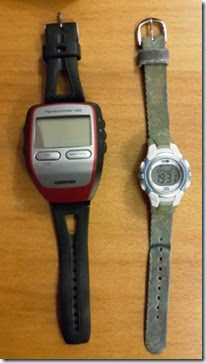 Garmin Gadget and Filthy-strapped watch