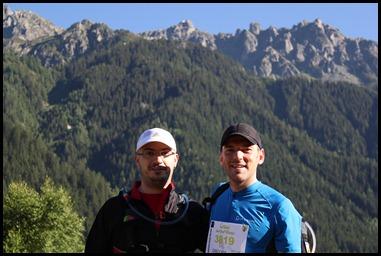 Christophe et Greg avant le départ