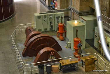 This turbine generates power used for the Dam itself
