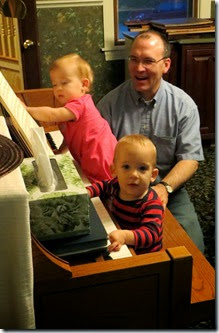 Twins' First Piano Lesson