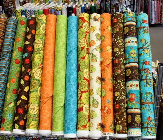 Fall Fun fabrics via The Fabric Mill