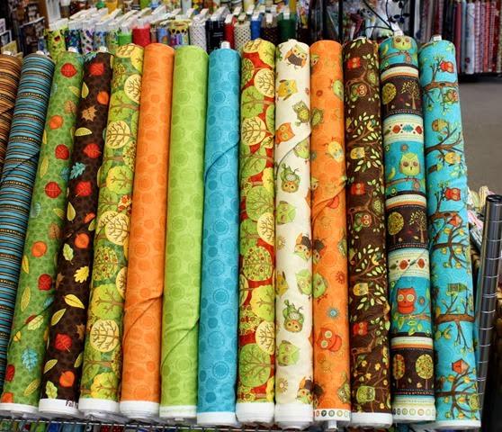 Fall Fun fabrics via The Fabric Mill