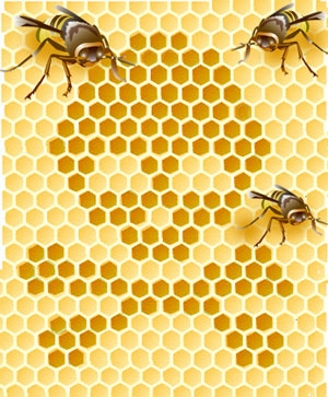 The Jolly Roger of the honeycomb, from 'The Honeybee Crisis: Colony Collapse Disorder', advocacy.britannica.com