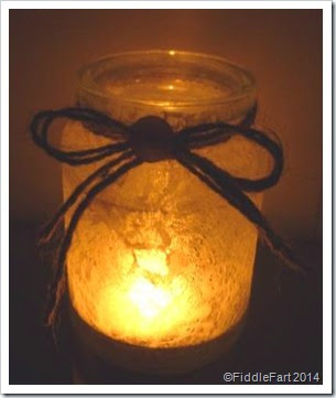 lace tealight holder..