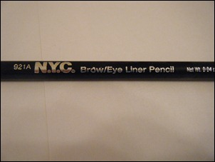 NYC Black Classic Brow/Liner Pencil