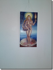 Venere si madona pictura inspirata din poezia lui Mihai Eminescu expusa in Herastrau