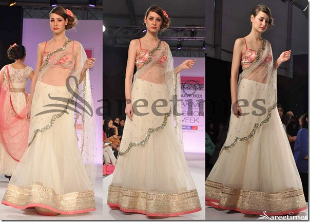 Anushree_Reddy_White_Lehenga_Style_Saree