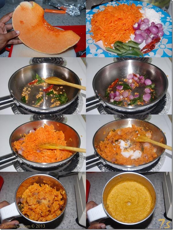 Pumpkin chutney process