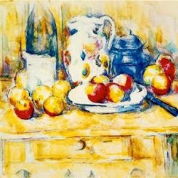 Paul Cezanne (1902-1906): Still Life with Apples, a Bottle and a Milk Pot. Museo de Arte de Dallas. Dallas. Texas. Postimpresionismo