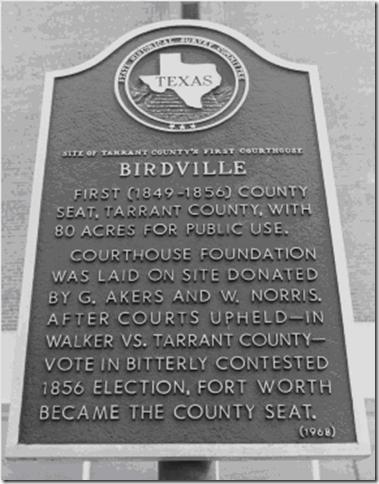 Birdville historic marker