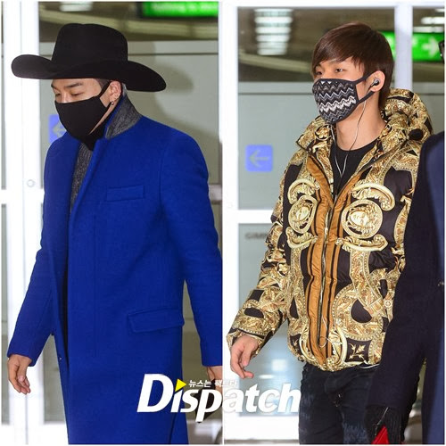 Recente Moda de Aeroporto de Dae Sung & Tae Yang Expressa Sua Personalidade 1.jpg