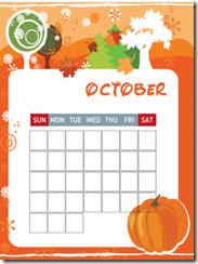 blank October calendar